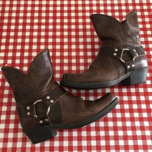 Ariat Brown Ankle Harness Boots